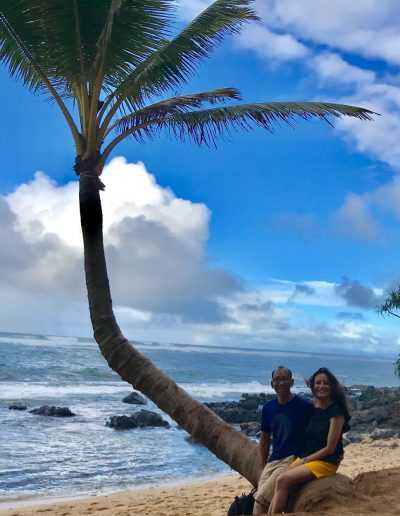 After a lunch by the sea in Kauai, Hawaii