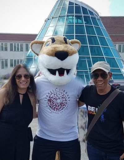 It's always fun to meet Butch T. Cougar, our University mascot!