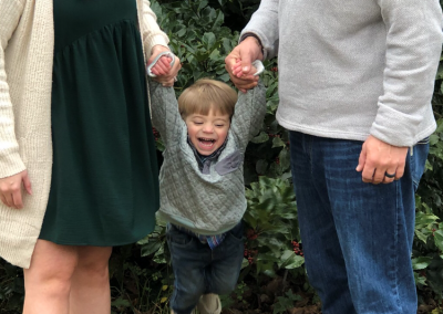 Having some fun during family photos. Rhett's face says it all!